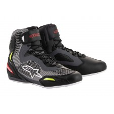 Alpinestars Faster-3 Rideknit Shoes Black Gray Red Yellow Fluo