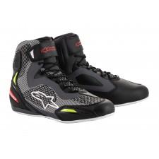 Alpinestars Faster-3 Rideknit Shoes Black Gray Red Yellow Fluo
