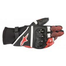 Alpinestars Gp X V2 Gloves Black White Bright Red