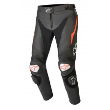 Alpinestars Track V2 Leather Pants Black Red Fluo