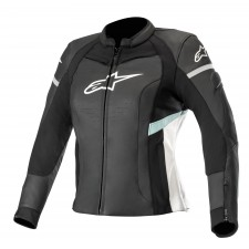 Alpinestars Stella Kira Leather Jacket Black White Teal