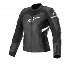 Alpinestars Stella Kira Leather Jacket Black White