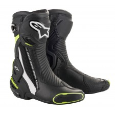Alpinestars Smx Plus V2 Boots Black White Yellow Fluo