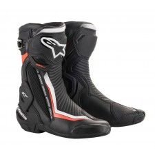 Alpinestars Smx Plus V2 Boots Black White Red Fluo