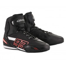 Alpinestars Faster-3 Rideknit Shoes Black White Red