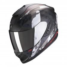 Scorpion EXO-1400 AIR SYLEX Matt Black-Silver-Red