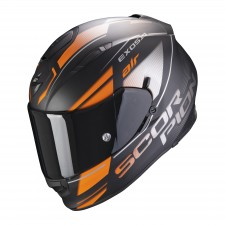 Scorpion EXO-510 AIR FERRUM Matt Black-Orange-Silver