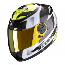 Scorpion EXO-490 TOUR White-Neon Yellow