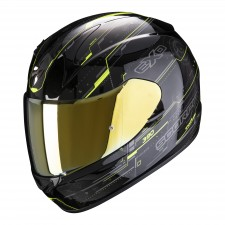 Scorpion EXO-390 BEAT Black-Neon Yellow