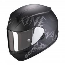 Scorpion EXO-390 ONEWAY Matt Black-Silver