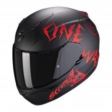 Scorpion EXO-390 ONEWAY Matt Black-Red