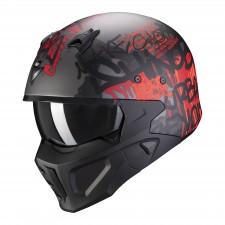 Scorpion COVERT-X WALL Matt Dark Silver-Red