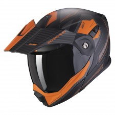 Scorpion ADX-1 TUCSON Matt Black-Orange