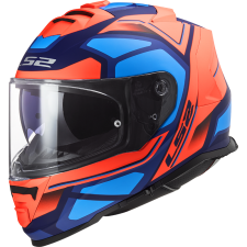LS2 FF800 STORM FASTER FLUO ORANGE BLUE