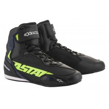 Alpinestars Faster-3 Shoes Black Yellow Fluo Blue