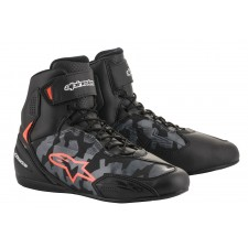 Alpinestars Faster-3 Shoes Black Gray Camo Red Fluo
