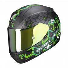 Scorpion EXO-390 CUBE Noir mat-Vert
