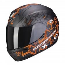 Scorpion EXO-390 CUBE Noir mat-Orange