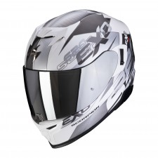 Scorpion EXO-520 AIR COVER Blanc-Argent
