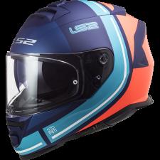 LS2 FF800 STORM SLANT MATT BLUE FL.ORANGE