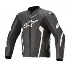 Alpinestars Faster V2 Airflow Leather Jacket Black White