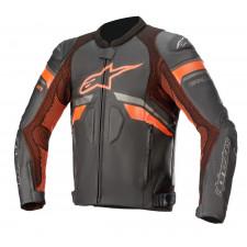 Alpinestars Gp Plus R V3 Rideknit Leather Jacket Black Red Fluo