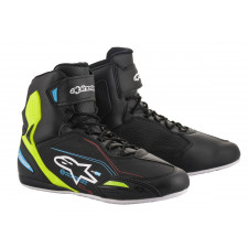Alpinestars Faster-3 Shoes Black Yellow Fluo Light Blue