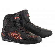 Alpinestars Faster-3 Rideknit Shoes Black Red Fluo
