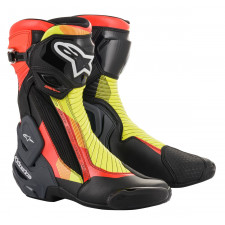 Alpinestars Smx Plus V2 Boots Black Red Fluo Yellow Fluo Gry