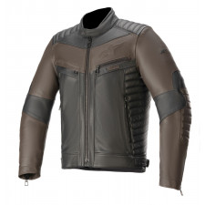 Alpinestars Burstun Leather Jacket Black Brown