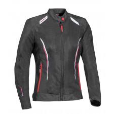 IXON Cool Air Lady Jacket Noir/Blanc/Rouge