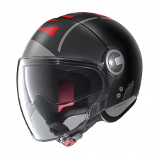 Nolan N21 Visor Avant-Garde Flat Black/Red
