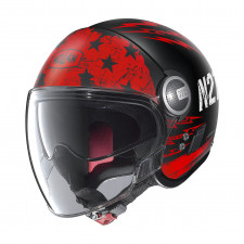 Nolan N21 Visor Jetfire Flat Black/Red