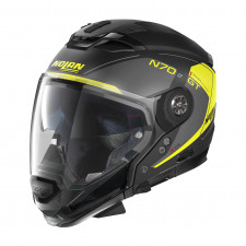 Nolan N70 2 GT Lakota n-com Flat Black/Grey Yellow
