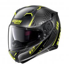 Nolan N87 Sioux n-com Flat Black/Yellow