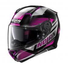 Nolan N87 Jolt n-com Metal Black/Purple