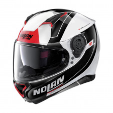 Nolan N87 Skilled n-com Metal White/Red