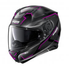Nolan N87 Plus Overland n-com Flat Black/Purple