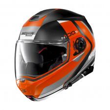 Nolan N100 5 Hilltop n-com Flat Black/Orange