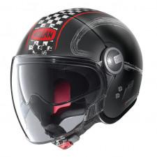Nolan N21 VISOR GETAWAY Flat Black/Red