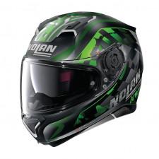 Nolan N87 VENATOR n-Com Flat Black/Green