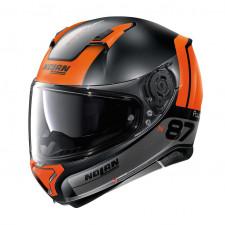 Nolan N87 PLUS DISTINCTIVE n-Com Flat Black/Orange