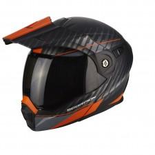 Scorpion ADX 1 DUAL Noir mat Orange