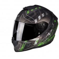 Scorpion EXO 1400 AIR Picta Argent mat Vert