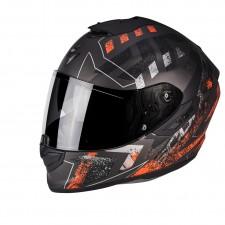 Scorpion EXO 1400 AIR Picta Argent mat Orange