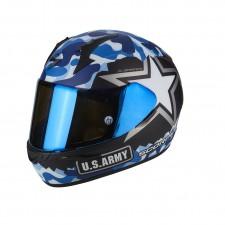 Scorpion EXO 390 ARMY Noir mat Bleu