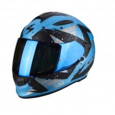 Scorpion EXO 510 AIR MARCUS Bleu ciel mat Noir