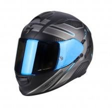 Scorpion EXO 510 AIR ROUTE Noir mat Bleu