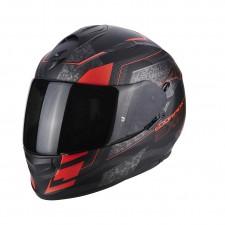 Scorpion EXO 510 AIR Galva Noir mat Rouge fluo