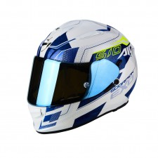 Scorpion EXO 510 AIR Galva Blanc perle Bleu